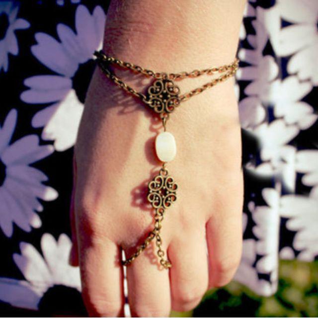 Vintage Chain Ring Bracelet