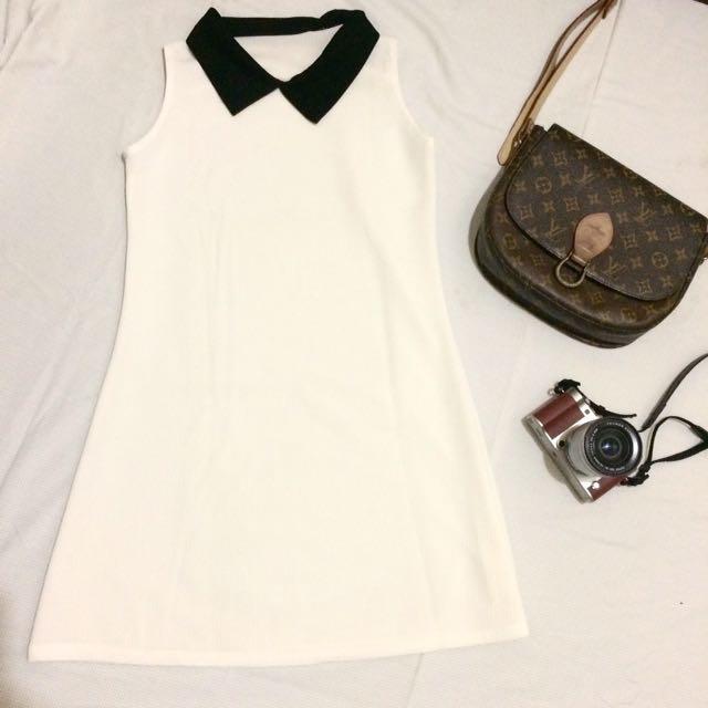 White Classy Dress 🔥