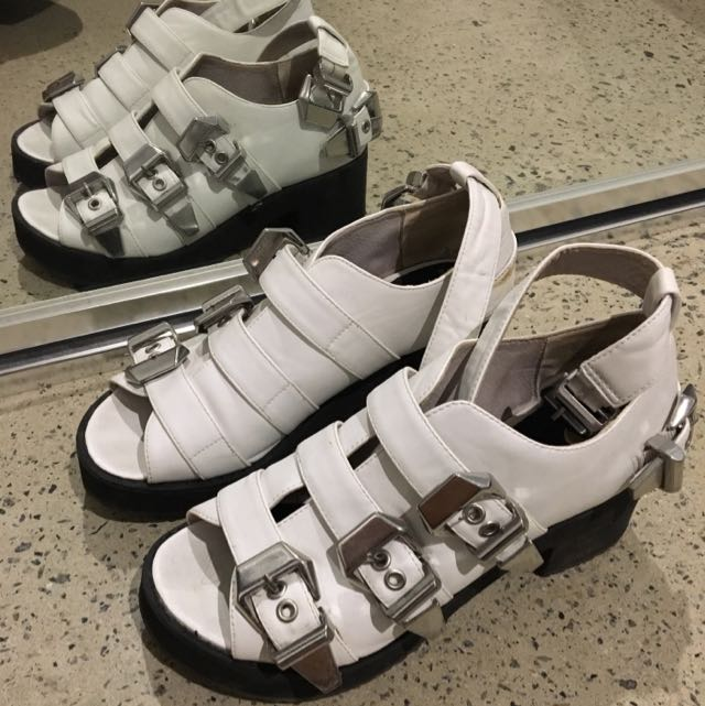 White Flatforms Shoes