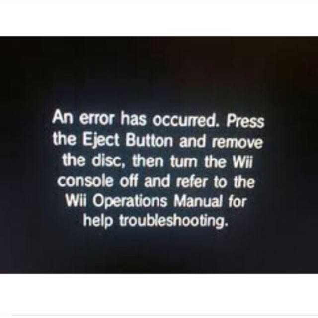 wii error 003 lens problem toys games video gaming consoles on rh sg carousell com Wii Disc Error Screen Wii Operation Manual Unreadable Disc