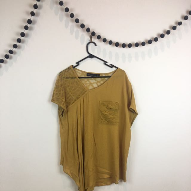 Wish Mustard Shirt Size 12/M