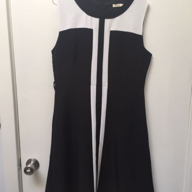 Woman's Black And White Dress