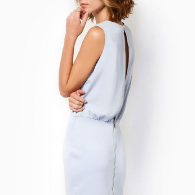 Zalora Powder Blue Bodice Dress