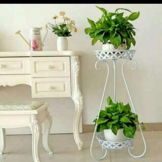 European Style 2 Layers Flower And Plant Stand
