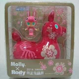 全家 rody x molly 馬年限定版存錢桶