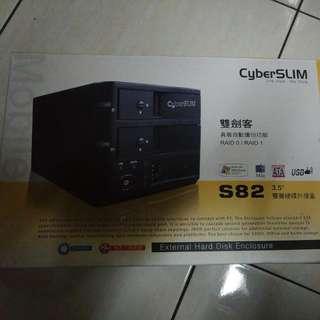 CyberSlim S82 雙劍客 3.5 eSATA RAID 自動備份 雙層硬碟外接盒for Jugelee