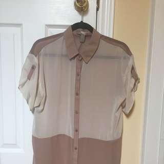 Silky Short Sleeve Button Up