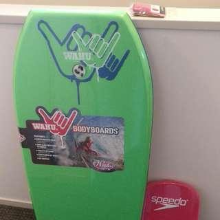 Body Board, Flipper Board, Swimming Cap