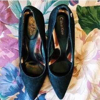 Calvin Klein Black Velvet Heels