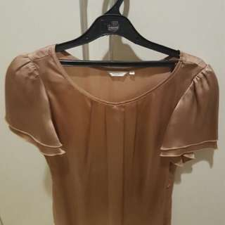 ACCENT preloved satin top (very good) with belt