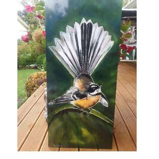 Outdoor, Garden, Fantail Art Panel