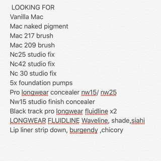 LOOKING FOR AUTHENTIC MAC MAKEUP