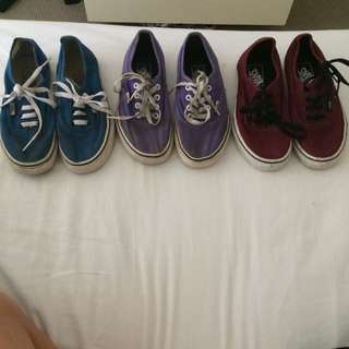 Vans All 3 Or Separately