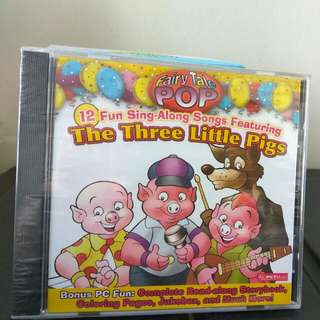 Three Little Pigs Fairy Tale Read along Music CD