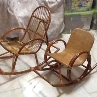 Rattan Chairs (A Set Of 2)