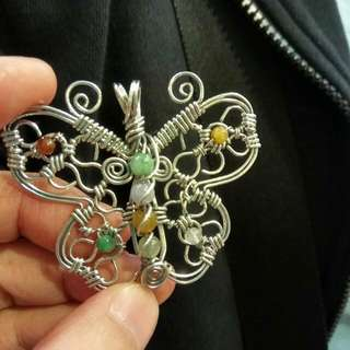 Handmade Sterling Silver Butterfly Pendant