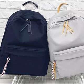 全新 日系原宿少女的流蘇裝飾 雙肩後背包 自留選物