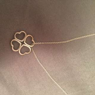 Tiffany Elsa Peretti Heart Clover Necklace