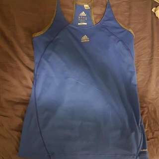 Blue Adidas Workout Top
