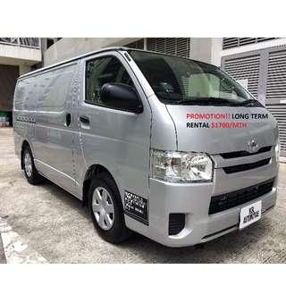 Toyota Hiace or NV350 Long Term Rental