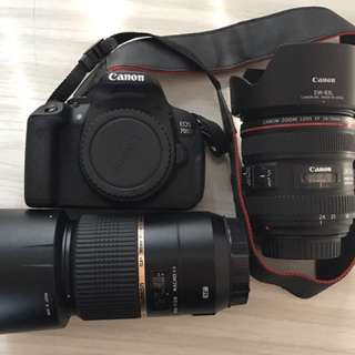 Canon 700D, 24-70mm Cannon Lens & 90mm Tamron
