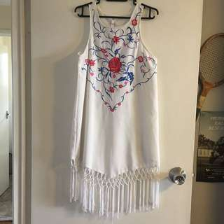 Sz 8 Indikah Embroidered Dress