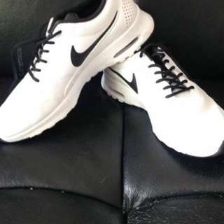 Nike White & Black Thea