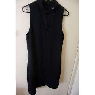 Little Black Dress with Choker Collar