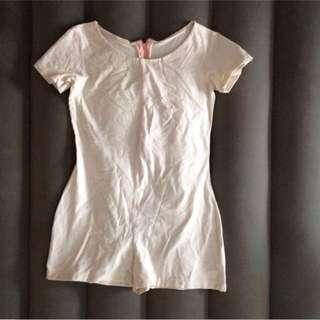 Cream cotton fabric romper
