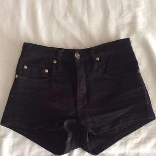 Black Nobody Denim Shorts Size 25 (6)