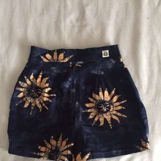 Her Pony Sun Tye Dye Shorts Size XS