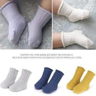 兒童寶寶坑條棉襪