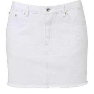 Seed White Denim Skirt