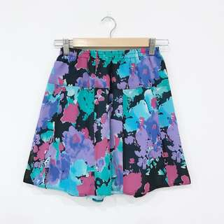 Retro Bright Patterned Skirt
