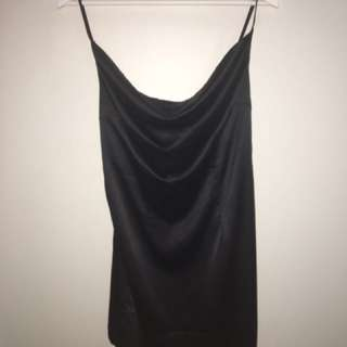 Boohoo Cowl Neck Black Dress