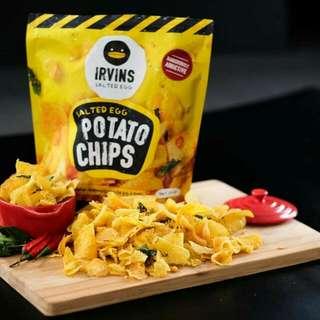 Irvins Salted Egg Potato Chips Dan Fish Skin (PO)