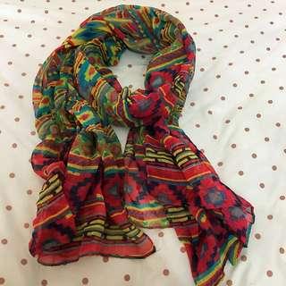 圍巾、披肩(鮮豔圖騰款)