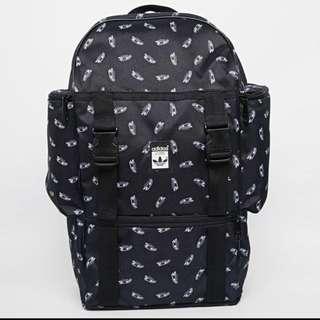 Adidas Black Superstar Trainer Print Backpack Bag