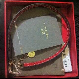 Authentic LANCEL leather bracelet/chocker