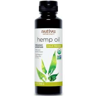 (代購) 有機冷壓大麻籽油 236ml, Nutiva, Organic Hempseed Oil