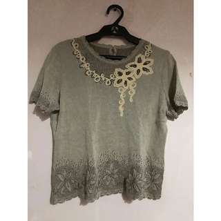 Sheer Embroidery Summer Top