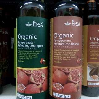 550 ML Pomegranate Organic Shampoo And Conditioner