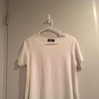 White Scoop Neck Tshirt Top