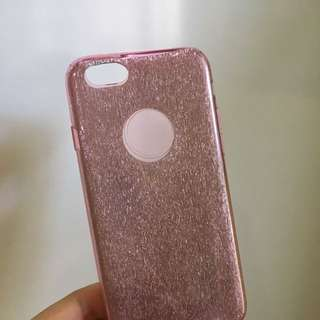 Glittery Pink Silicone Phone Cover iPhone 6/6s