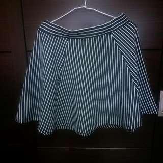 🍃NET 直式深色藍白條紋短裙🍃