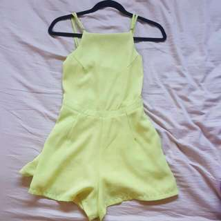 Fluro / Neon Yellow Festival Backless