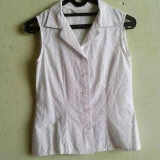 White Shirt Sleeveless