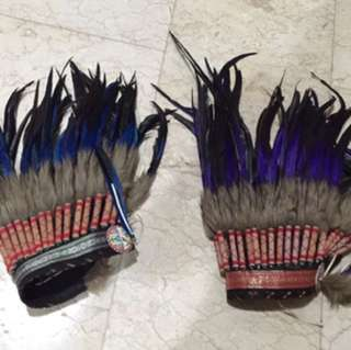 American Indian Feather Head Dress 2 Pieces