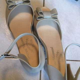 Vivienne漆皮楔形魚口高跟鞋