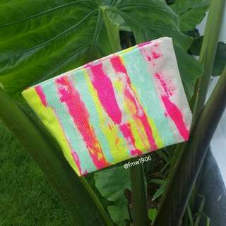 Ratha Canvas Clutch With Ziper